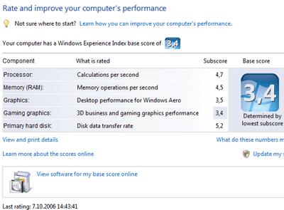 Windows Vista výkon