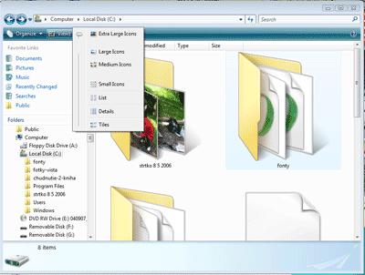 Windows Vista ikony veľké