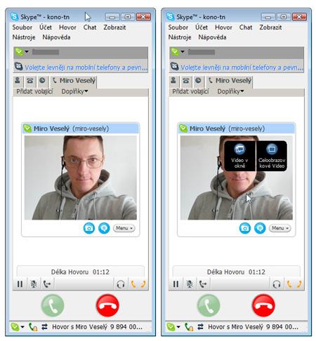Skype - video možnosti