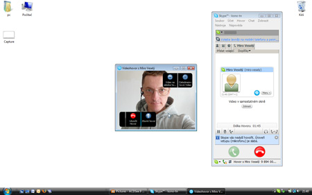 Skype - video v okne