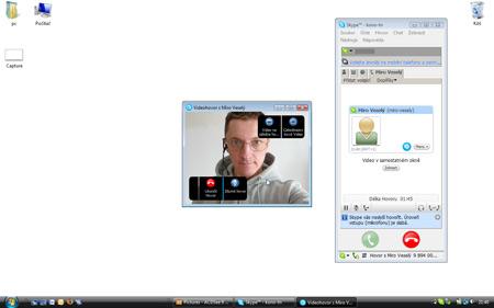 Skype - video v okne
