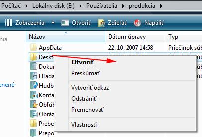 Windows Vista systémové priečinky